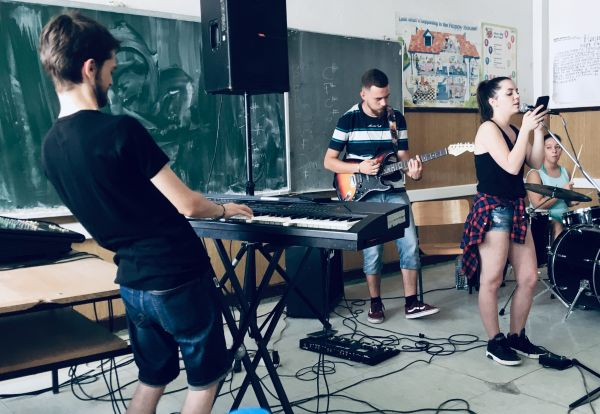 The Mitrovica Rock School in action. By Gillian Howell.