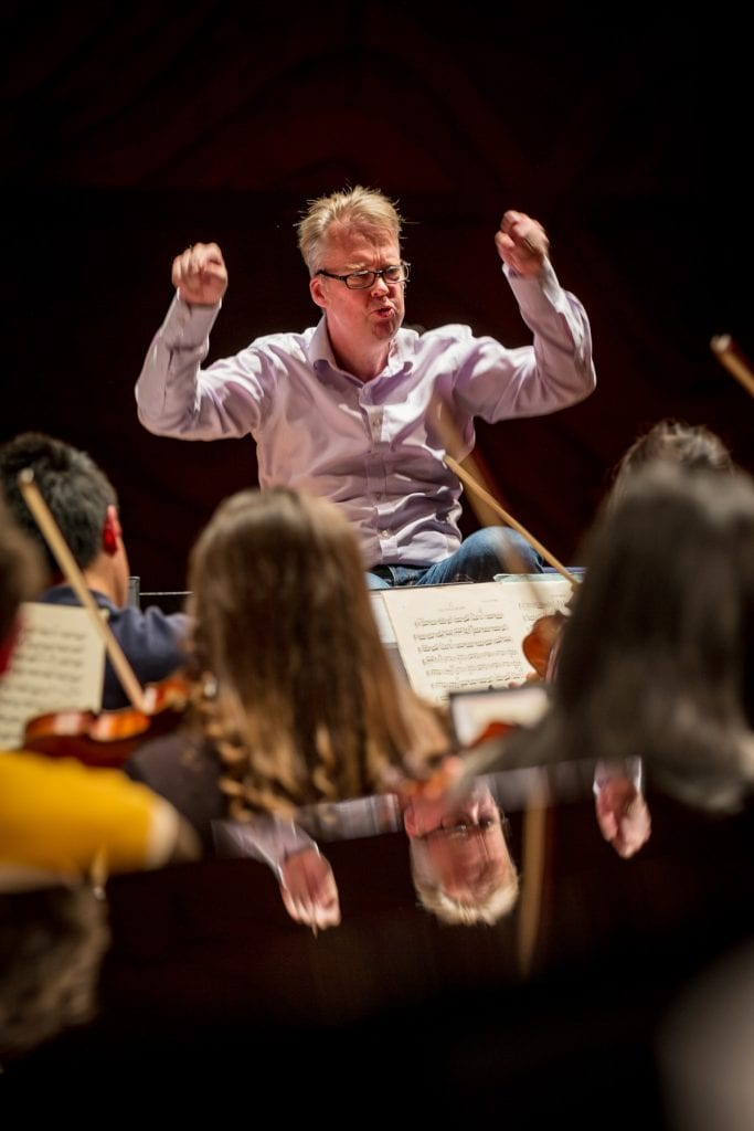 Conductor Richard Davis during rehearsal at the Melbourne Recital Centre. By Sav Schulman.