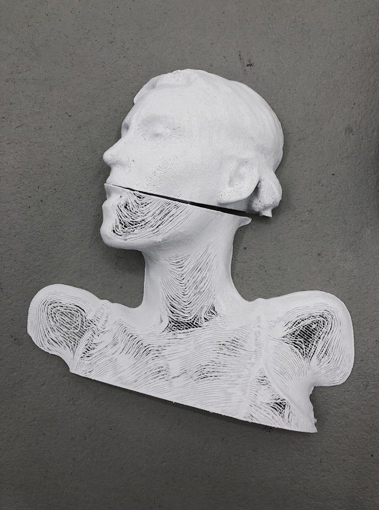 3D Printed Body Scan. By Yandell Walton.