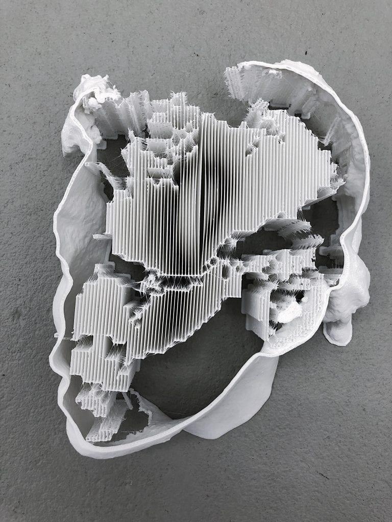 Failed 3D Print. By Yandell Walton.