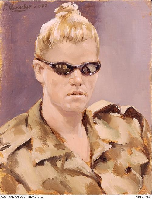 Peter Churcher, Corporal McKelvie RAAF, Diego Garcia (Indian Ocean, 2002). Australian War Memorial.