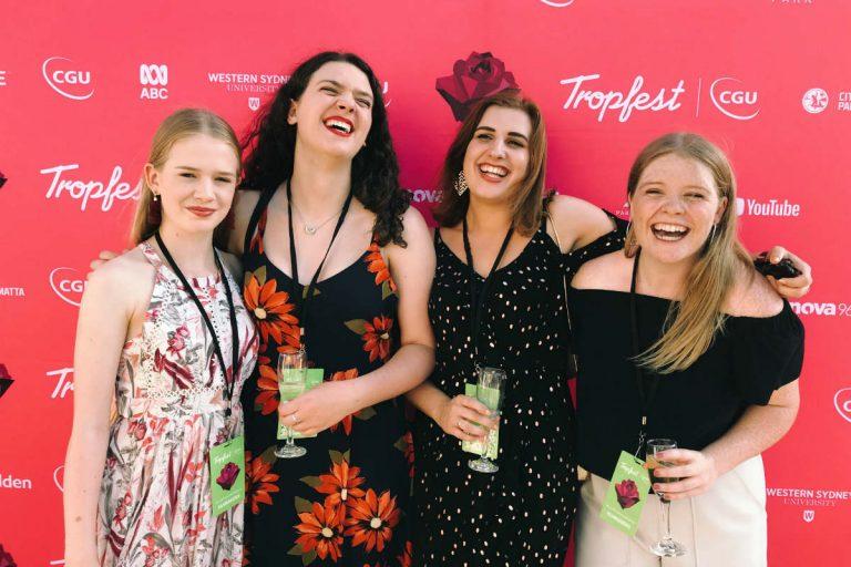 Freya van Dyke-Goodman, Greta Nash, Gillian Crosby and Gabrielle McLeod. Image supplied.