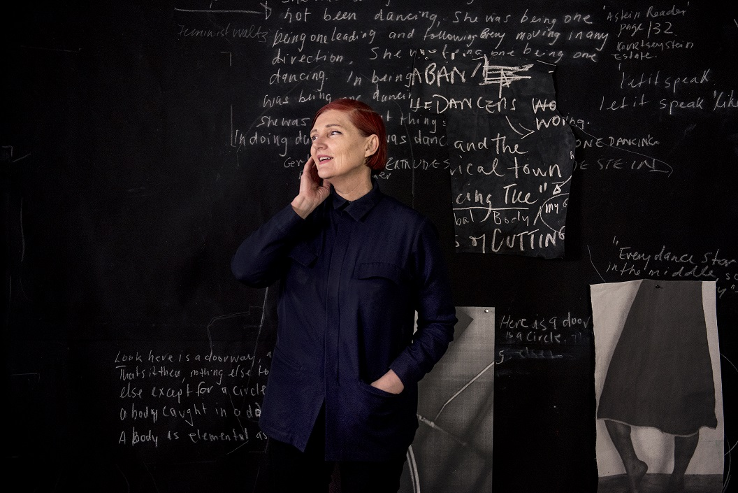 One of ABC Top 5 Arts' ambassadors Sally Smart, in her studio. Photo: Giulia McGauran.