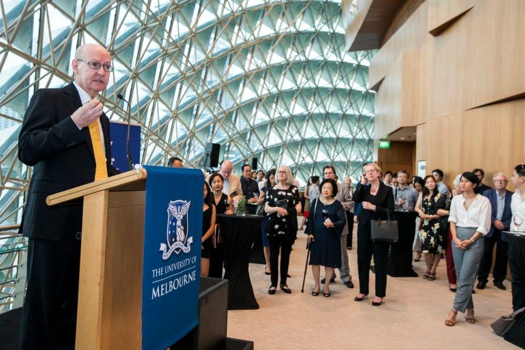 Conservatorium Director Professor Gary McPherson addresses University of Melbourne alumni in Singapore. By Lori Wu.