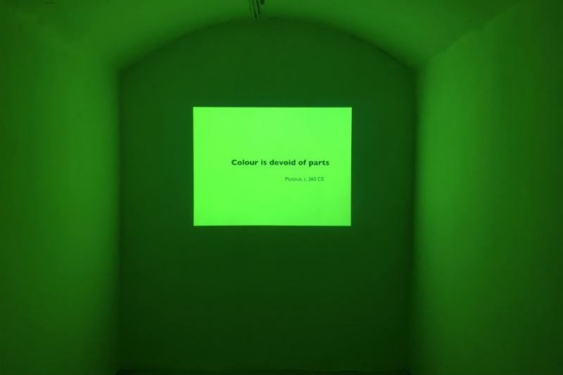 David Batchelor's Colour Is, installed in C Ab Anbar Gallery in Tehran. Image supplied.
