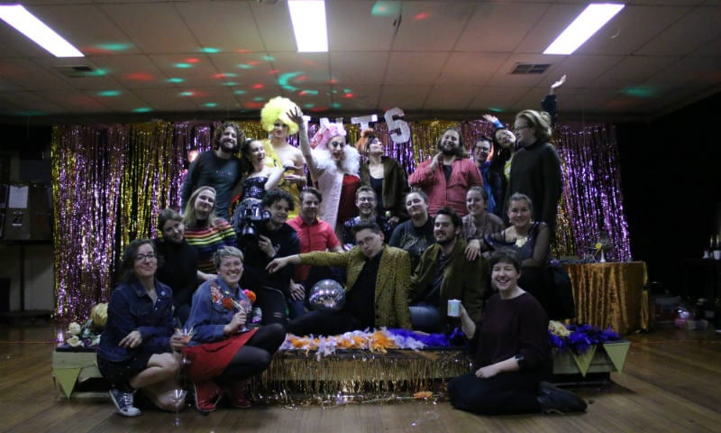 The cast and crew of Moonshine on set. Image supplied.