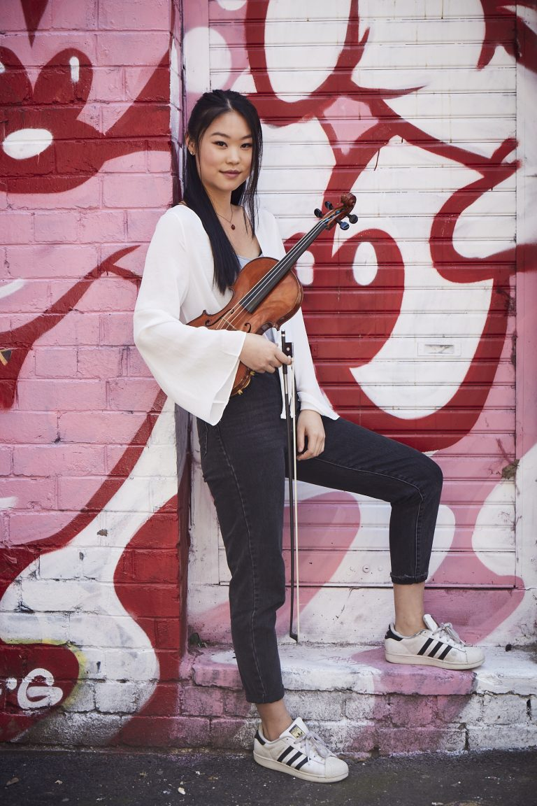 Melbourne Conservatorium of Music violinist Amy You. Image by John O'Rourke.