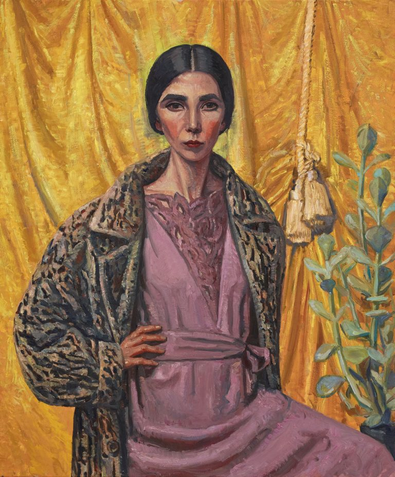 Yvette Coppersmith, Self-portrait, after George Lambert, oil and acrylic on linen, 132 x 112cm. Image: Art Gallery of NSW.