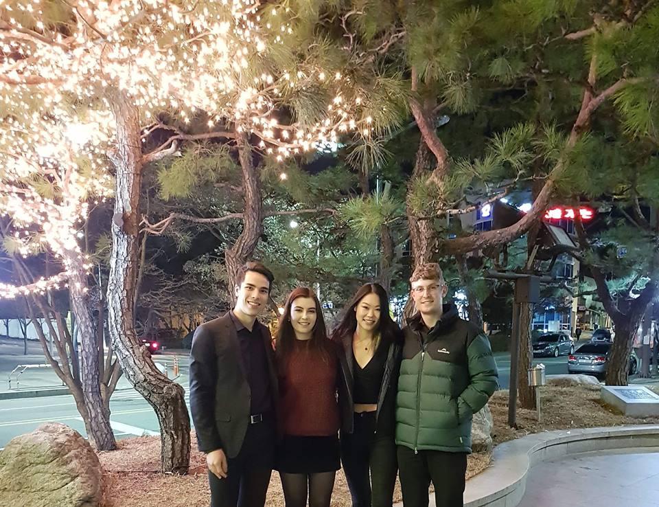 The Kalon Quartet outside Hyundai Hall, South Korea. Image supplied.