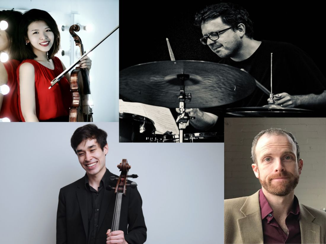 Clockwise from top left: Wenhong Luo, Dylan van der Schyff, John Gabriel and Richard Narroway join the Melbourne Conservatorium in 2020. Composite image.