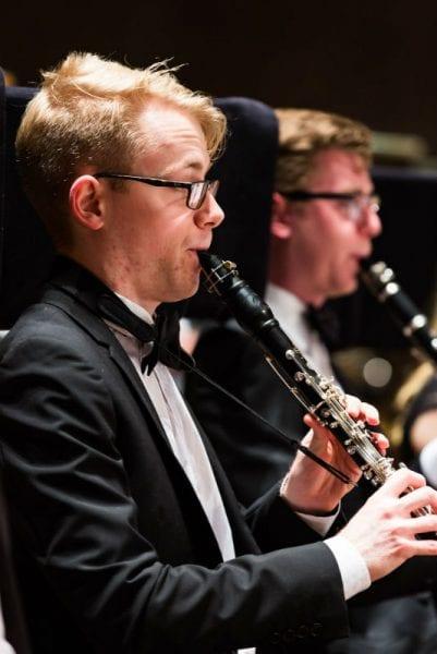 Clarinettist Thomas D'Ath. Photo by Sav Schulman.