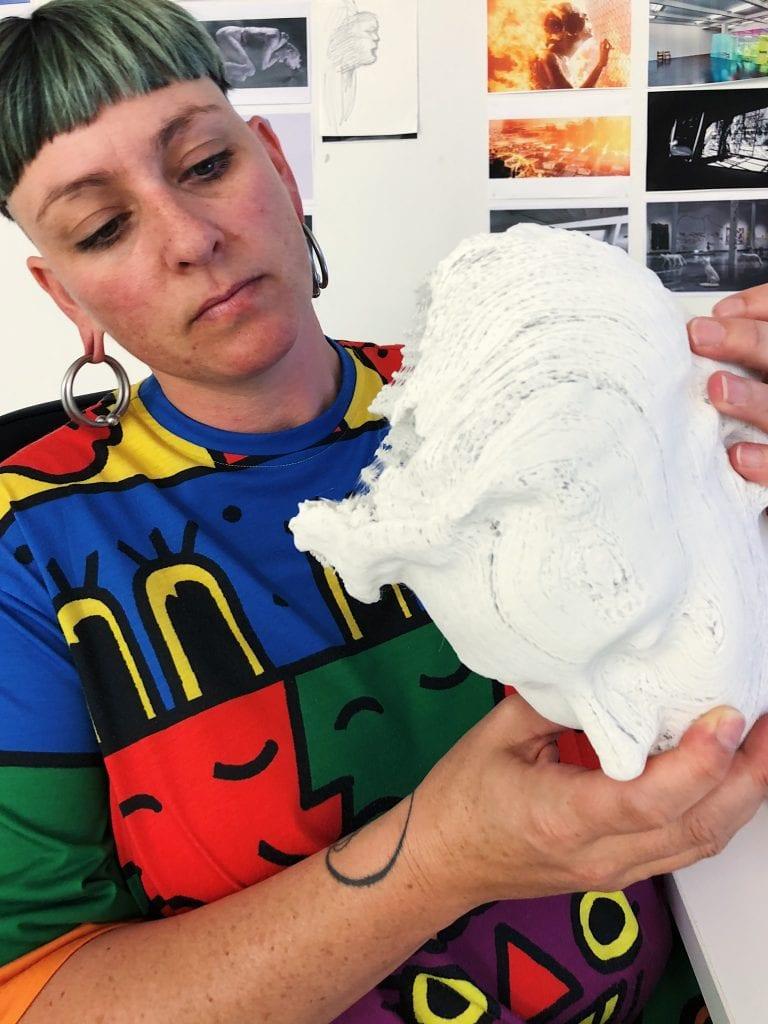 Yandell Walton at the VCA PHASMID Studio, Berlin. By artdocumentation.com.au.