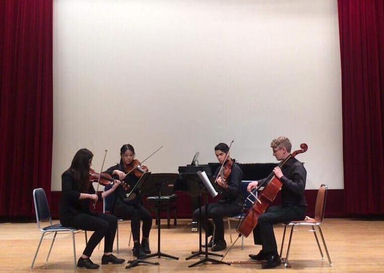 The Kalon Quartet performing at the University of Ulsan, South Korea. Image supplied.