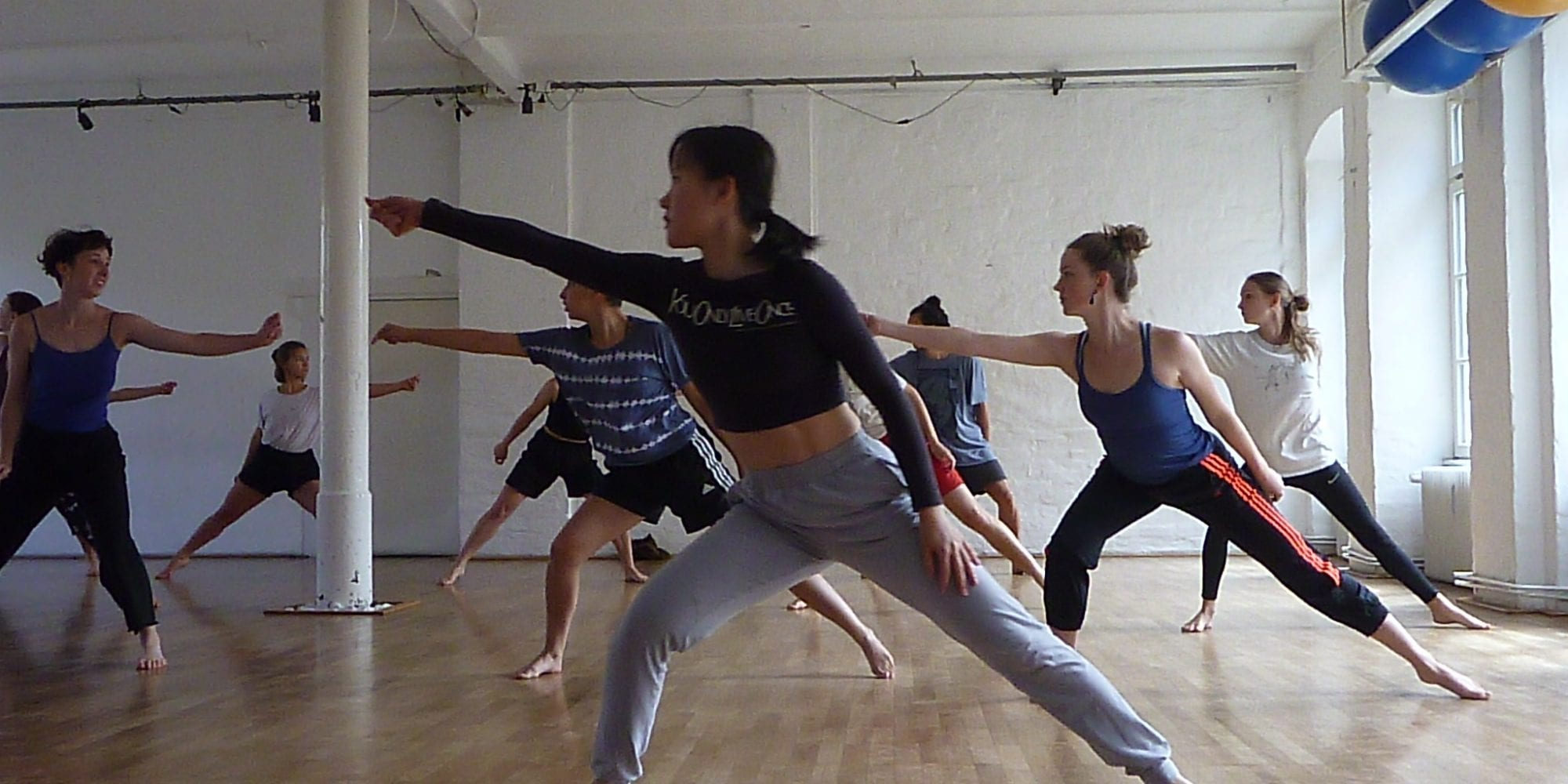 VCA Dancers at Tanzfabrik, Berlin. Workshop with choreographer Ayman Harper. By Anna Smith.