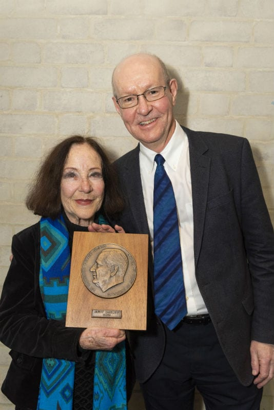 Judy Bailey OAM and Director of the Melbourne Conservatorium of Music Professor Gary McPherson. Image supplied.