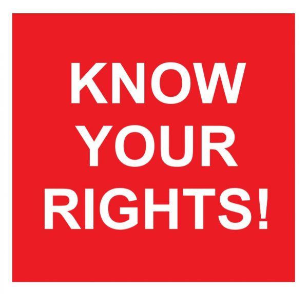Know your rights text