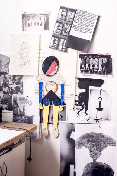Detail from Sally Smart's Melbourne studio. Photo: Giulia McGauran