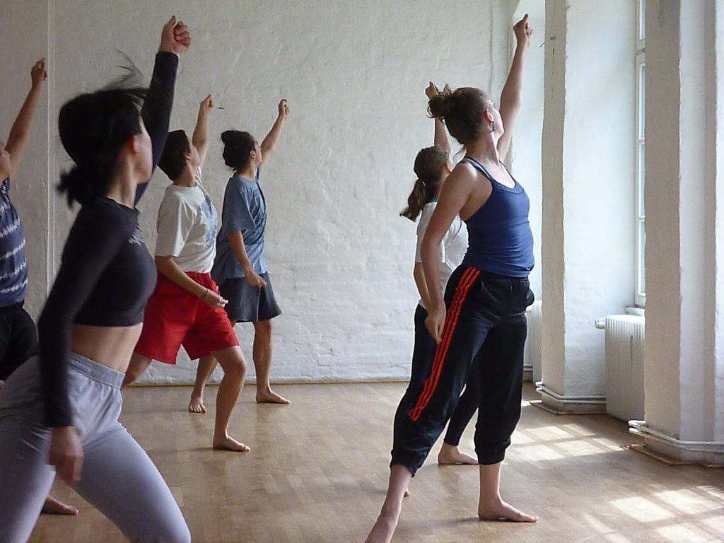 VCA Dancers at Tanzfabrik, Berlin. Workshop with Ayman Harper. By Anna Smith.