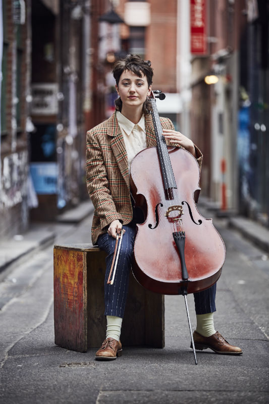 Cellist Chiara Anderson. Image by John O'Rourke
