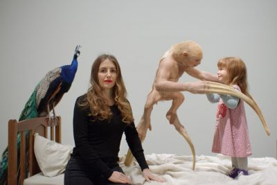 Patricia Piccinini with The Welcome Guest, 2011.