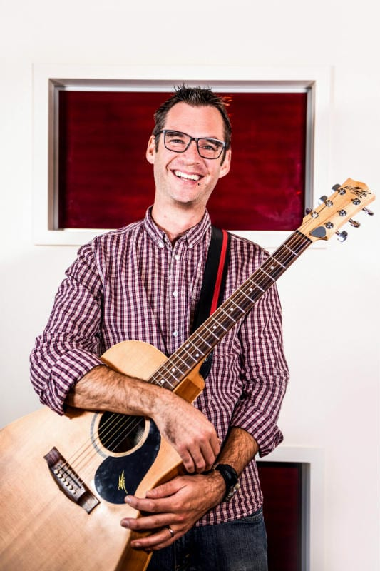 Master of Music Therapy student Andrew Bucknall. Photo by Giulia McGauran.