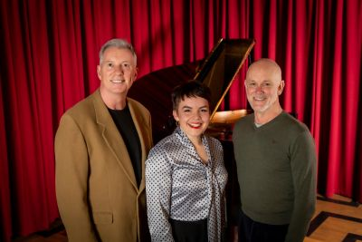 L–R Dr Andrew McAliece, Willow Sizer, and Dr Richard Simmie. Image by Sav Schulman.