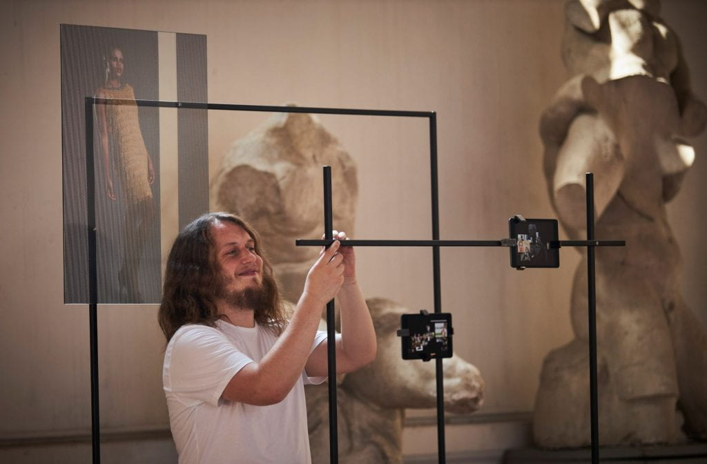 "Ashley Perry installs his work ""Anthology of human physical perfection"" at the Accademia Di Belle Arti Di Firenze. By O'Rourke & Gates."