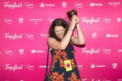Greta Nash at Tropfest 2018. Image supplied.