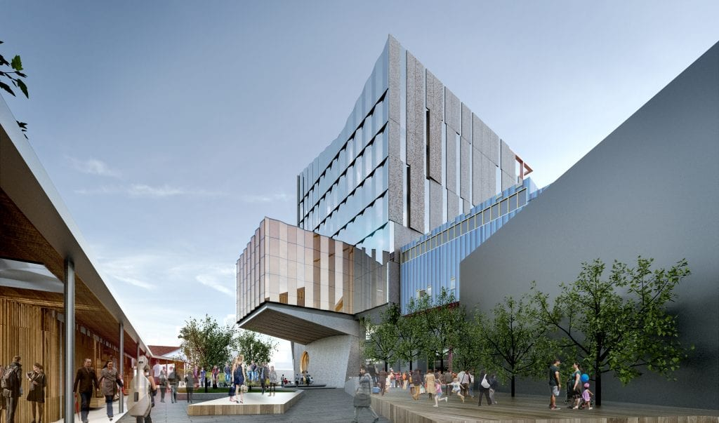 Artist's impression of The Ian Potter Southbank Centre, a new home for the Melbourne Conservatorium of Music. Courtesy of John Wardle Architects.