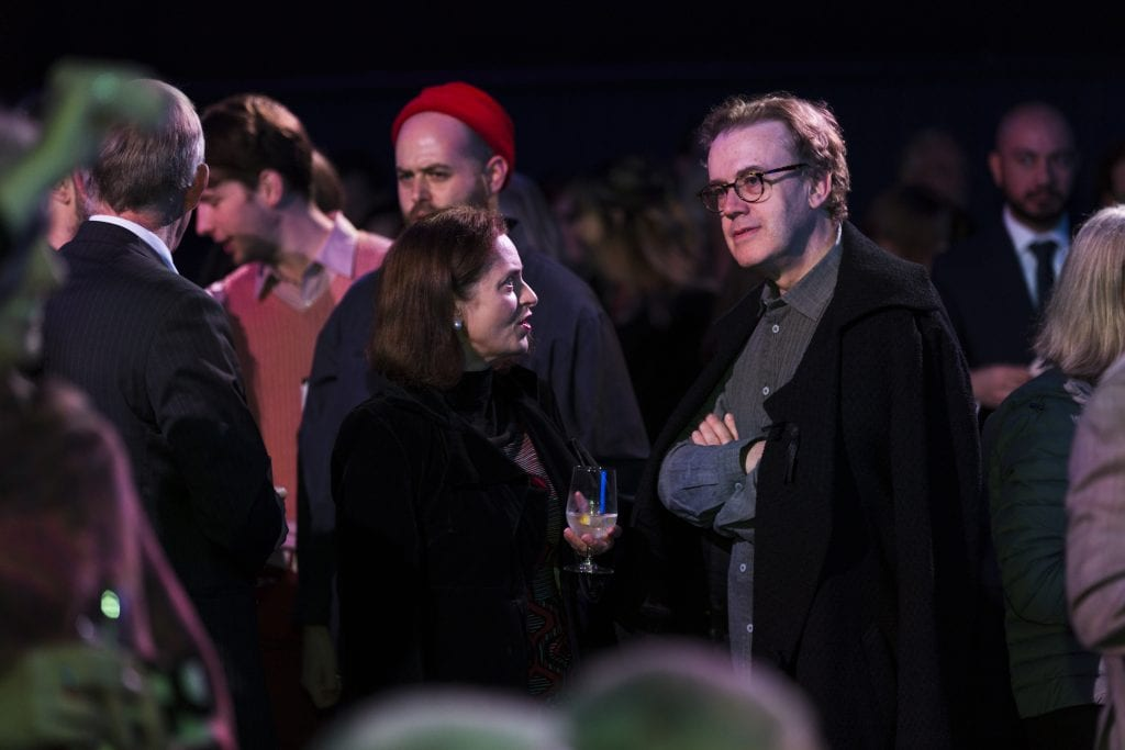 Jonathan Mills at the opening of The Stables on the University of Melbourne's Southbank Campus, 2018. By Drew Echberg.