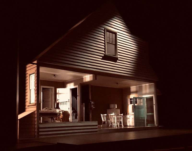 Richard Roberts' set design from Death of a Salesman (2019), Queensland Theatre. Supplied.