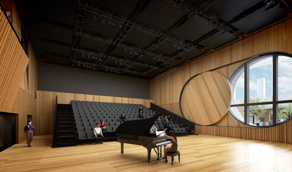 Inside The Ian Potter Southbank Centre. Artist's impression, courtesy of John Wardle Architects.