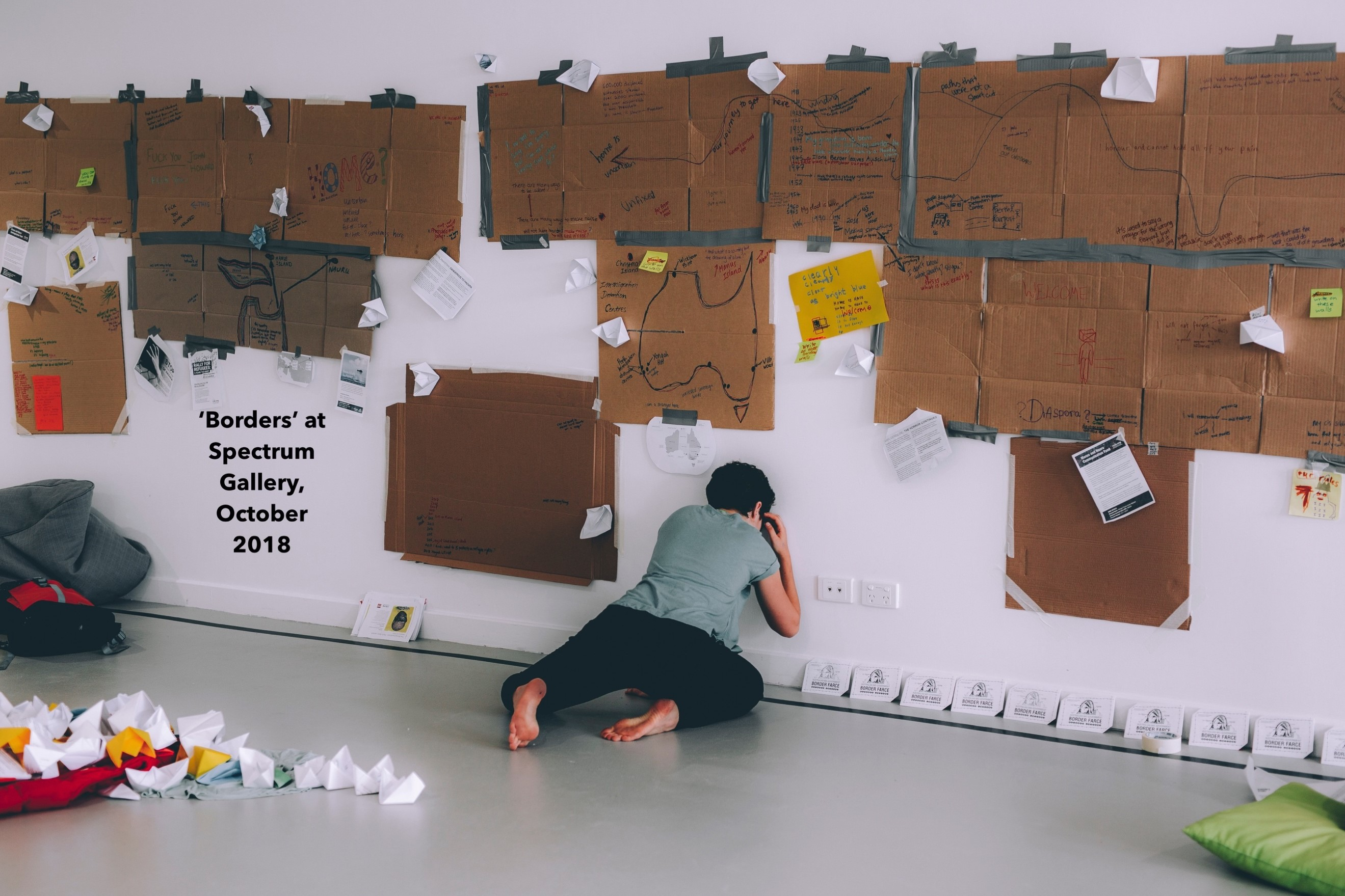 Borders, Spectrum Gallery, Perth. 2018. Photo by Zal Kanga-Parabia.