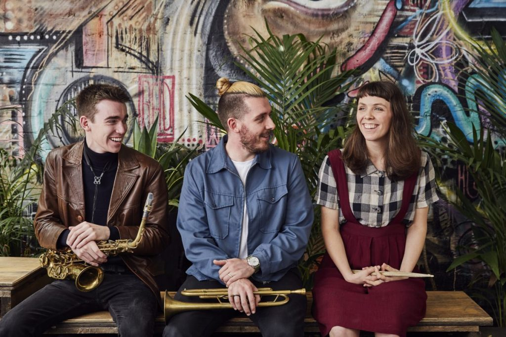 Melbourne Conservatorium students Keidan Morley, Reuben Lewis and Alexandra Czarnecki-Roper. Image by John O'Rourke.