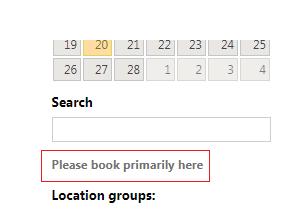 Please book primarily here