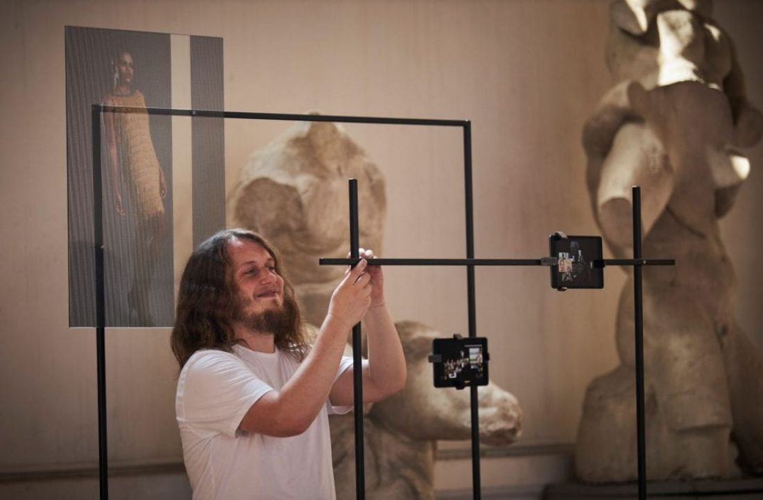 "Ashley Perry installs his work ""Anthology of human physical perfection"" at the Accademia Di Belle Arti Di Firenze. By O'Rourke & Gates"