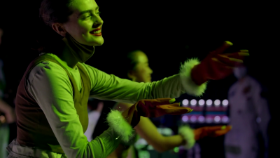 Still: Amelia O'Leary performing with fellow VCA Dance students.