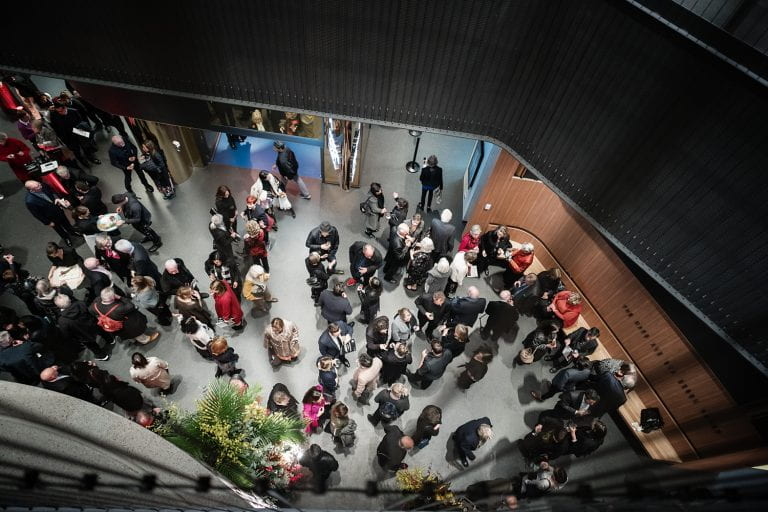 Guests enjoy the festivities at the launch of The Ian Potter Southbank Centre on 1 June, 2019. By Stephen McCallum.